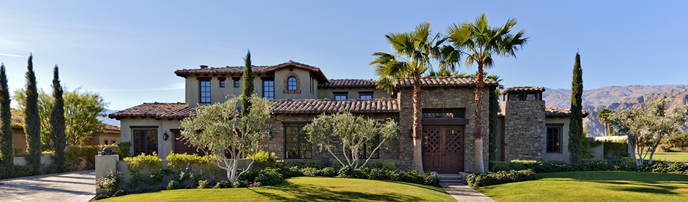 Large, luxury home in Arizona with South West style architecture after home inspection services.